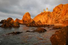 Faro de Cabo de Gata desde Arrecife de las Sirenas